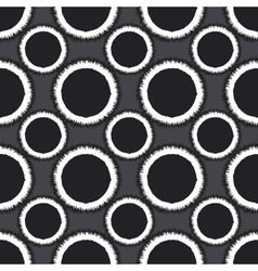 Seamless monochrome ornament vector