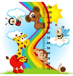 baby height measure 1 to 4 vector image