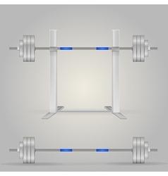 barbells vector image