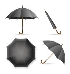 Black Umbrella Template Set vector image vector image