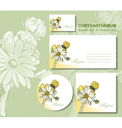 business card envelopes vector image vector image