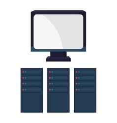 Computer and big data design vector