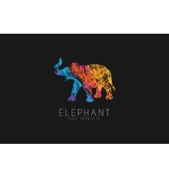 Elephant logo design Africa logo Colorful logo vector image
