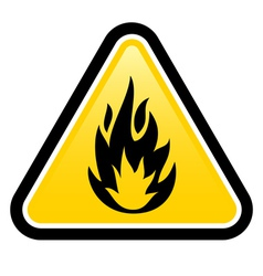 Flammable vector image vector image