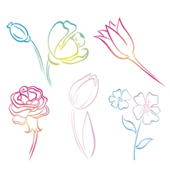 Flower art line vector