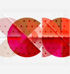 Geometric circle abstract banner vector