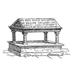 Godfrey de bouillon tomb vintage vector