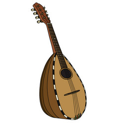 Historical italy mandolin vector