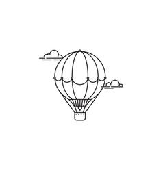 Park and playgroundair balloon icon linear vector