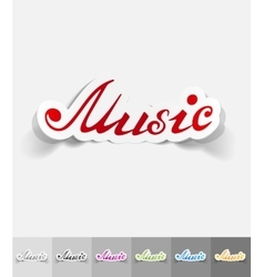 Realistic design element music inscription vector