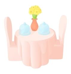Restaurant icon cartoon style vector image