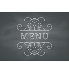 Restaurant Menu Headline with Chalkboard vector image