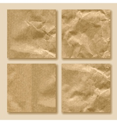 set of crumpled paper vector image vector image