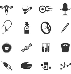 Set of icons gynecological vector