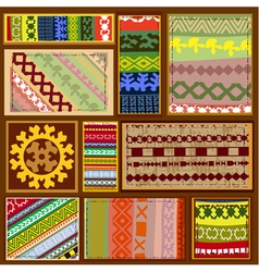 Siberian ethnic patterns vector