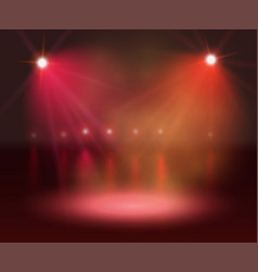 Spotlight on stage and lights vector