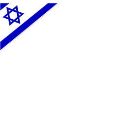 Square background frame with the flag of israel vector