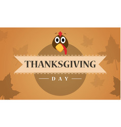Thanksgiving day with maple background vector