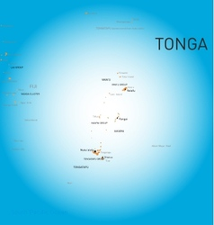 Tonga map vector image vector image