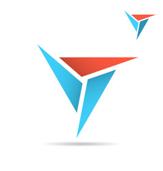 triangle with sharp edges formes delta sign vector image vector image