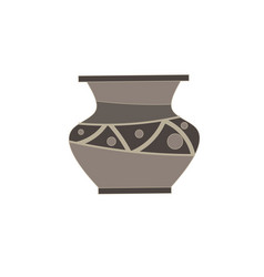 vase flat icon isolated for flower front view vector image vector image