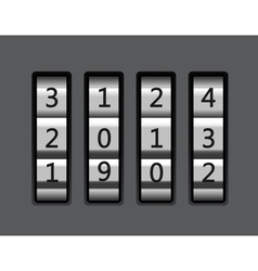 Code lock with number 2013 vector