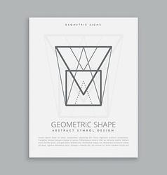 Futuristic geometric shape vector