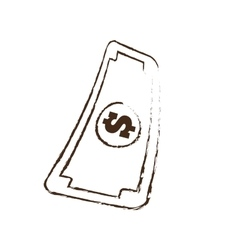Sketch draw bill money currency dollar vector