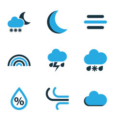 Climate colored icons set collection of arc vector