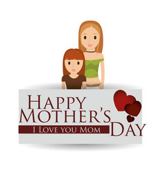 mothers day mom with child lovely card vector image