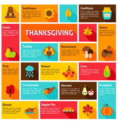 Thanksgiving infographic concept vector