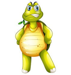 A turtle standing alone vector image