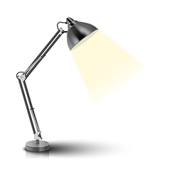 Desk lamp vector