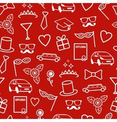 Prom seamless pattern vector