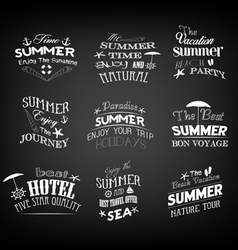Set of vintage retro summer labels vector
