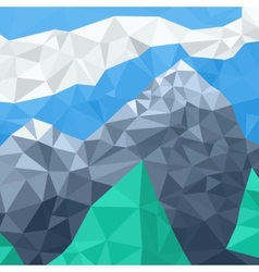 Mountain landscape mosaic in the summer vector
