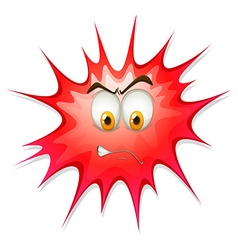 Red boom with angry face vector