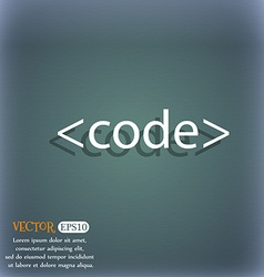 Code sign icon programming language symbol on the vector