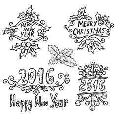 Winter holidays messages vector