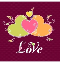 Hearts for design valentines day love message vector