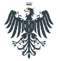 Heraldic eagle12 vector