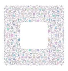 Elegant luxury varicolored floral frame vector
