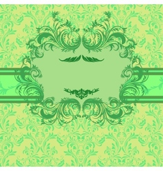 Bright vintage invitation card vector image