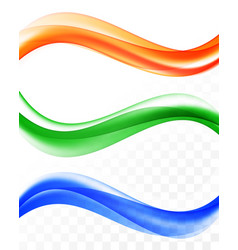 abstract elegant wavy lines set vector image