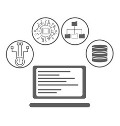Artificial intelligence icons vector