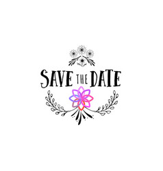 Badge as part of the design - save the date vector
