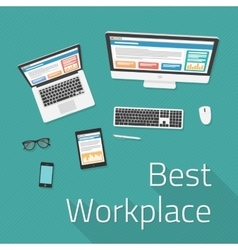 Best workplace vector image vector image