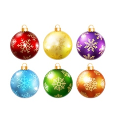 Collection of isolated christmas balls vector image vector image