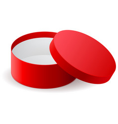gift box red round cardboard container vector image vector image