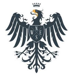 Heraldic eagle12 vector image